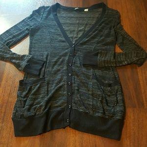 Black button sweater